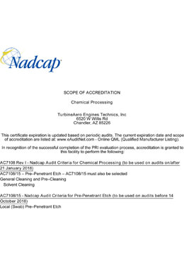 Nadcap – Chemical Processing (TET – 2)
